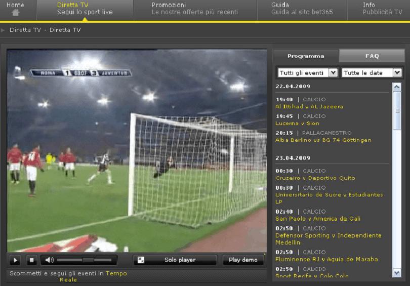 siti scommesse streaming calcio