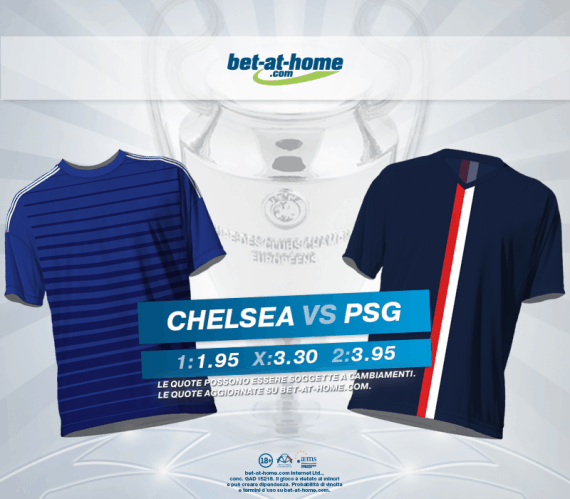 Chelsea PSG Paris Saint-Germain: pronostici e quote su Bet-at-home