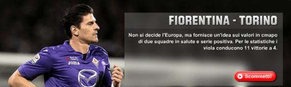 Fiorentina Torino: pronostici e 60 euro bonus Unibet