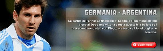 Germania Argentina su Unibet
