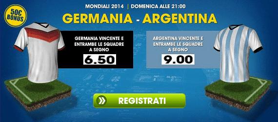 Germania Argentina su William Hill