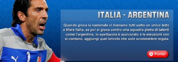 Italia Argentina su Unibet