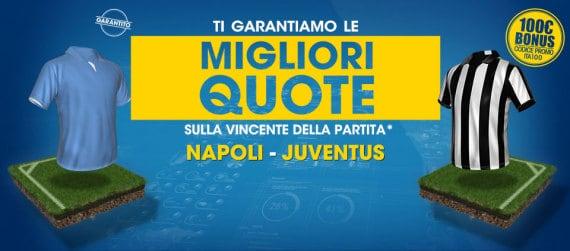 Napoli Juventus: pronostici e promo William Hill