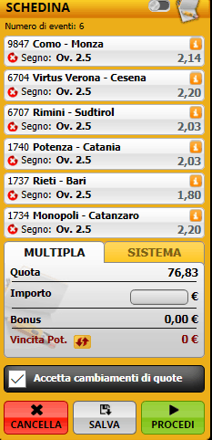Più di 2 goals Serie C