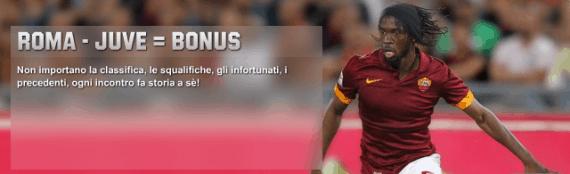 Roma Juventus: pronostici e bonus 60 euro su Unibet