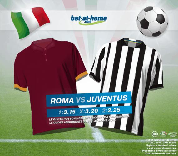 Roma Juventus: pronostici e scommesse su Bet-at-home