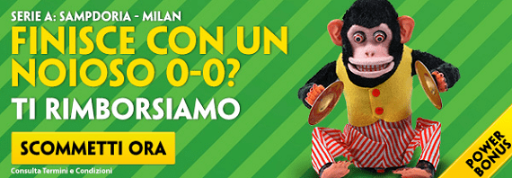Sampdoria Milan: bonus scommesse Paddy Power