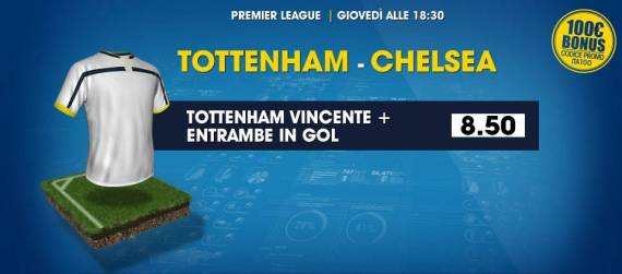 Scommesse e Pronostici su Tottenham Chelsea: William Hill