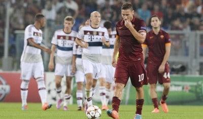 Totti in Roma Bayern-1-7